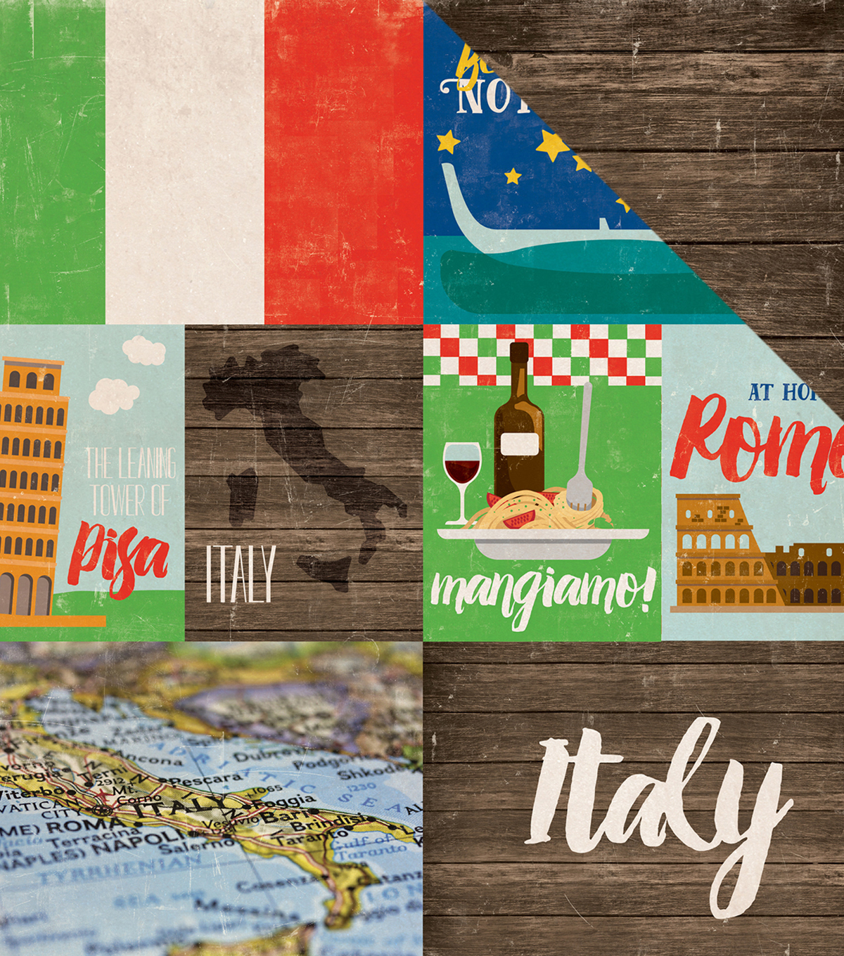 "Around The World Double-Sided Cardstock 12""X12""-Italy"