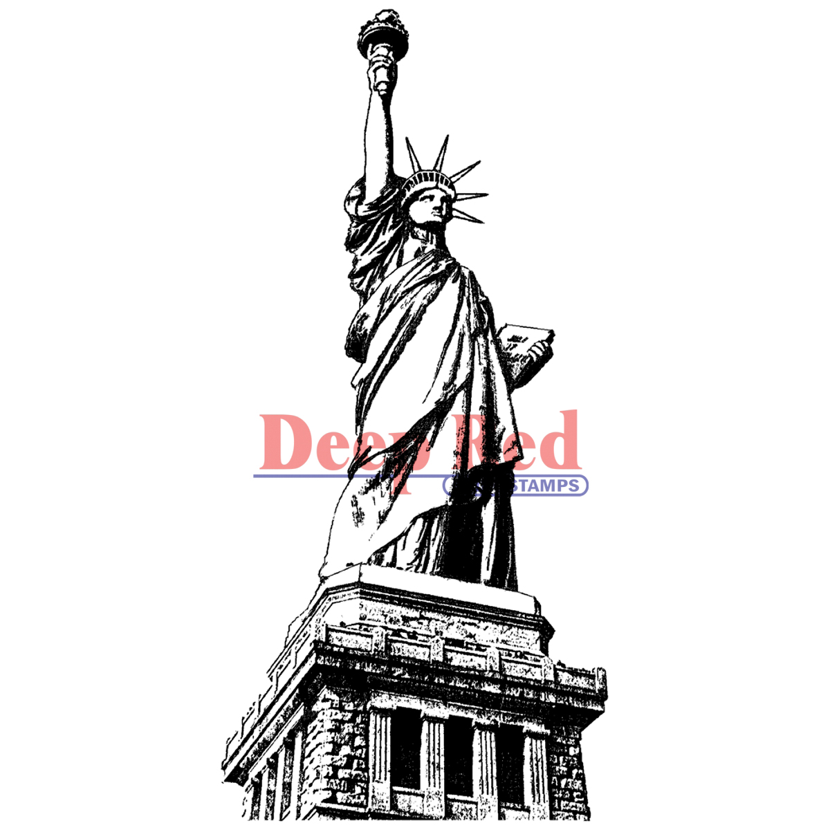 Deep Red Cling Stamp Statue Of Liberty