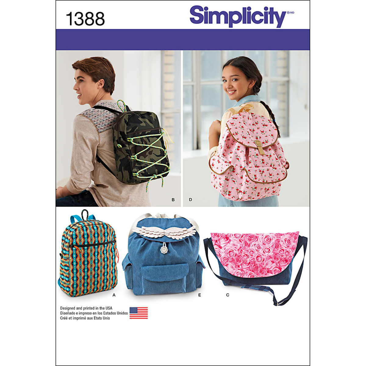 Simplicity Pattern 1388OS One Size -Crafts Accessories