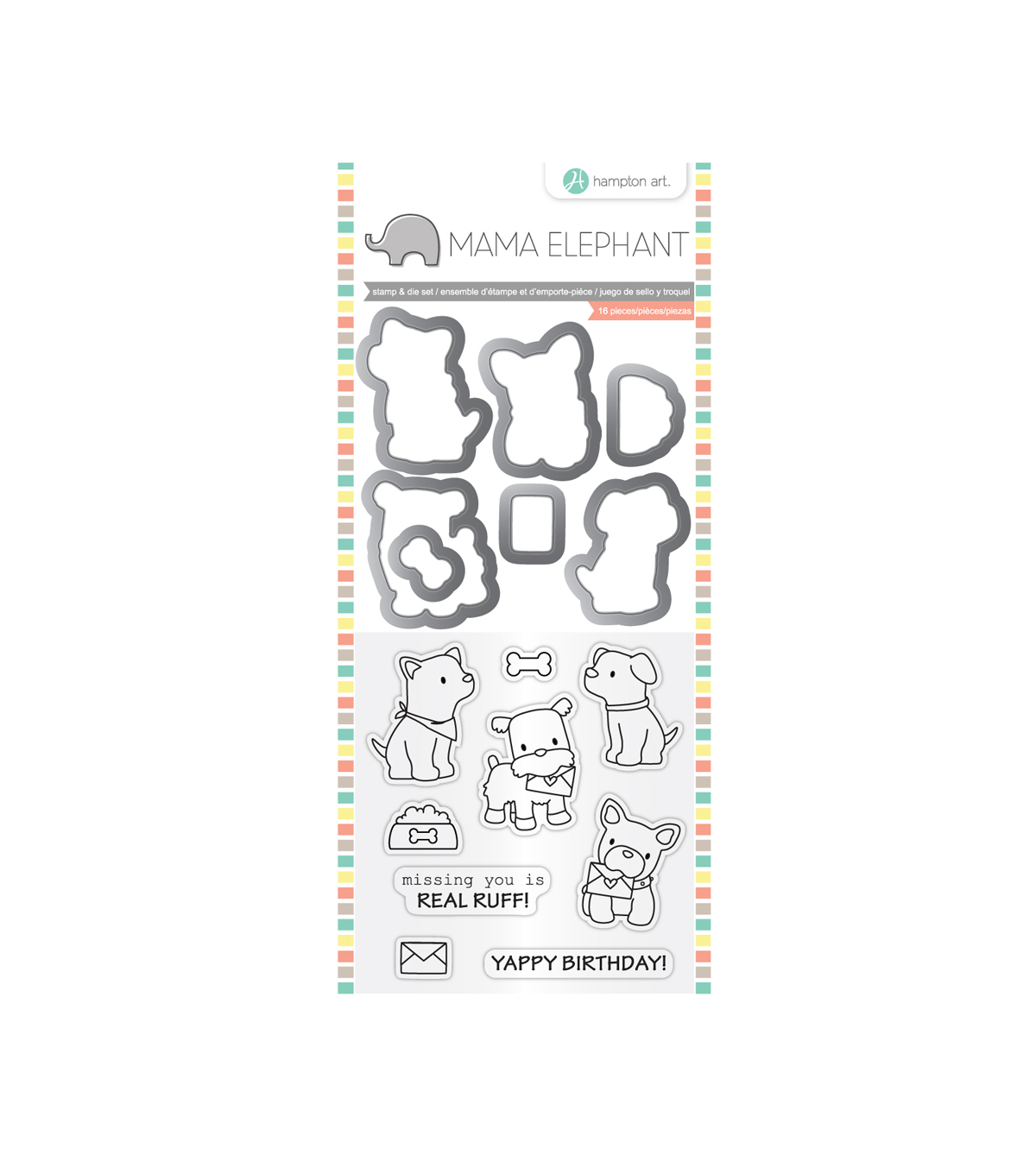 Mama Elephant Clear Stamp & Die Set-Puppy Play