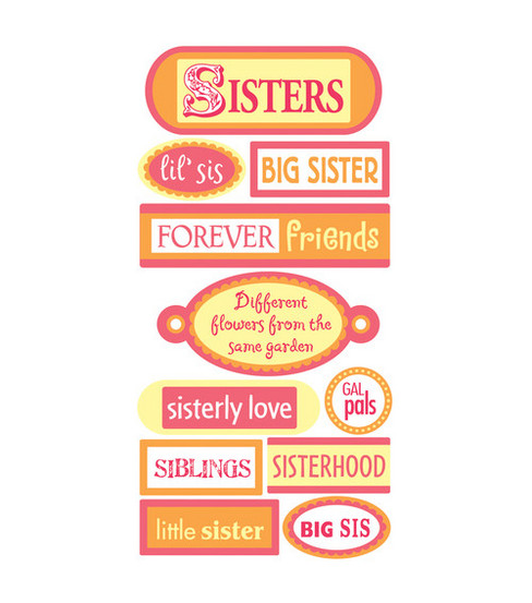 Sandylion Dimensional Stickers-Sisters