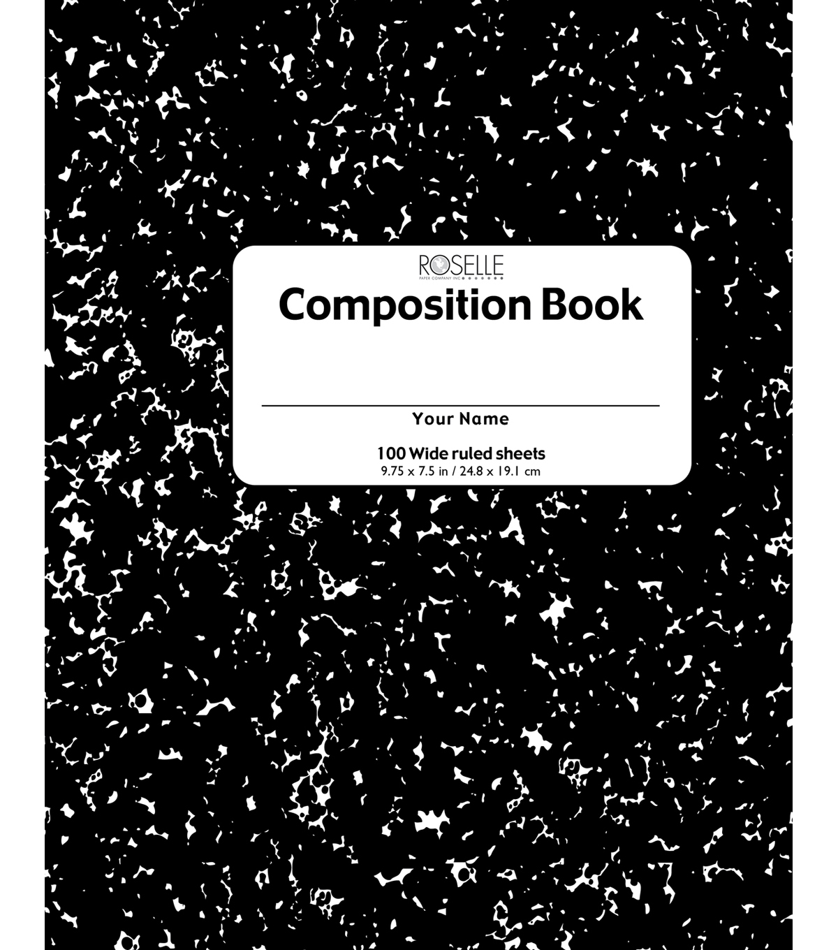 Roselle College Ruled Composition Book 100 Sheets
