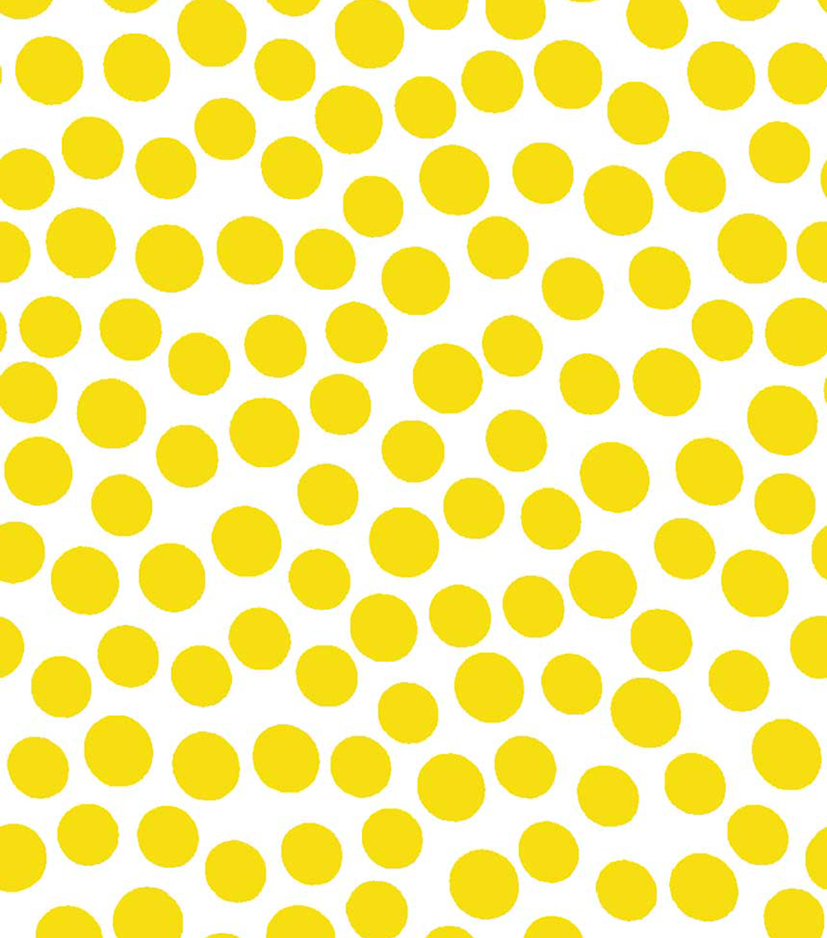 Jennifer Paganelli Cotton Fabric-Yellow Dots
