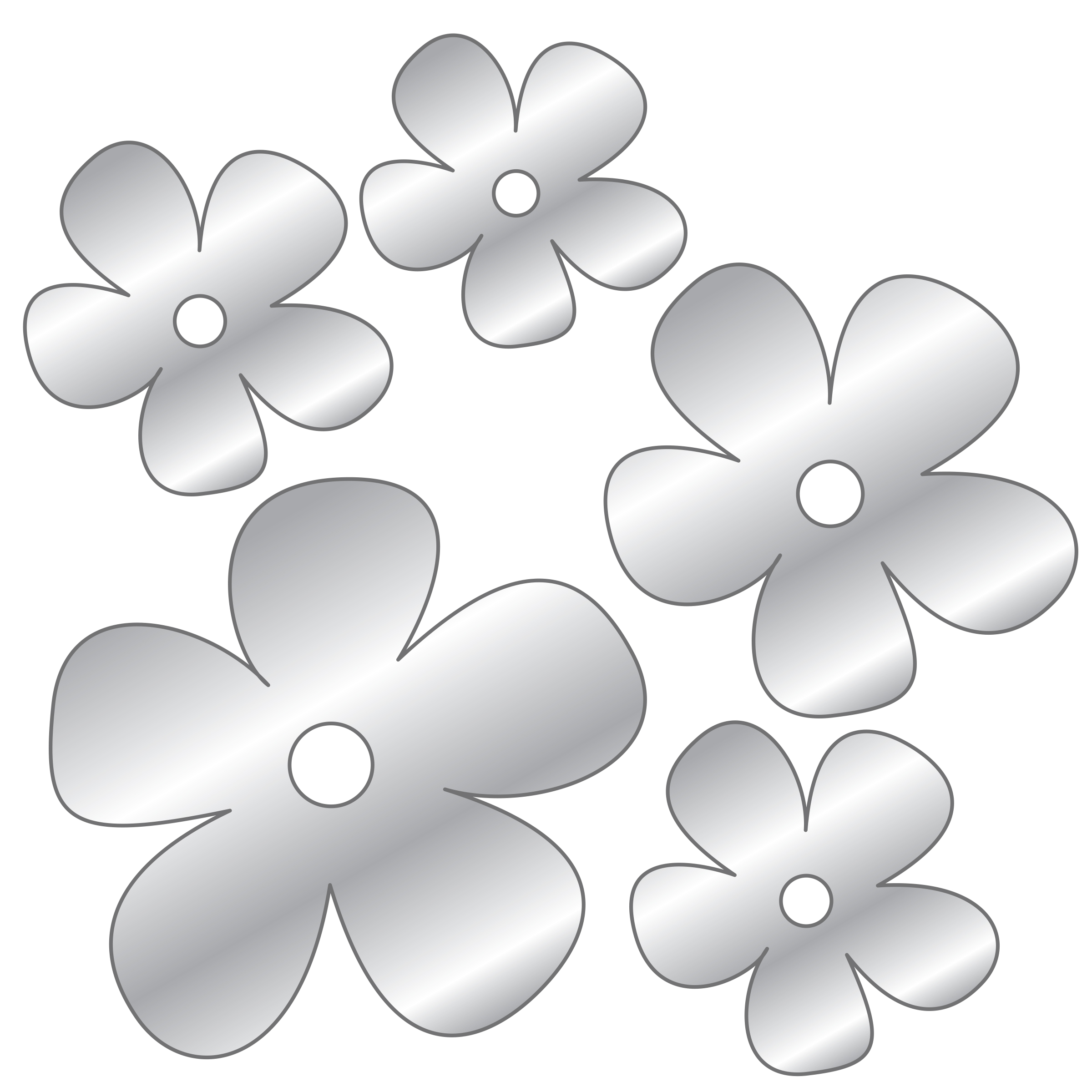 DCWV Self Stick Mirrors-Mini 3D Peel Stick Flowers
