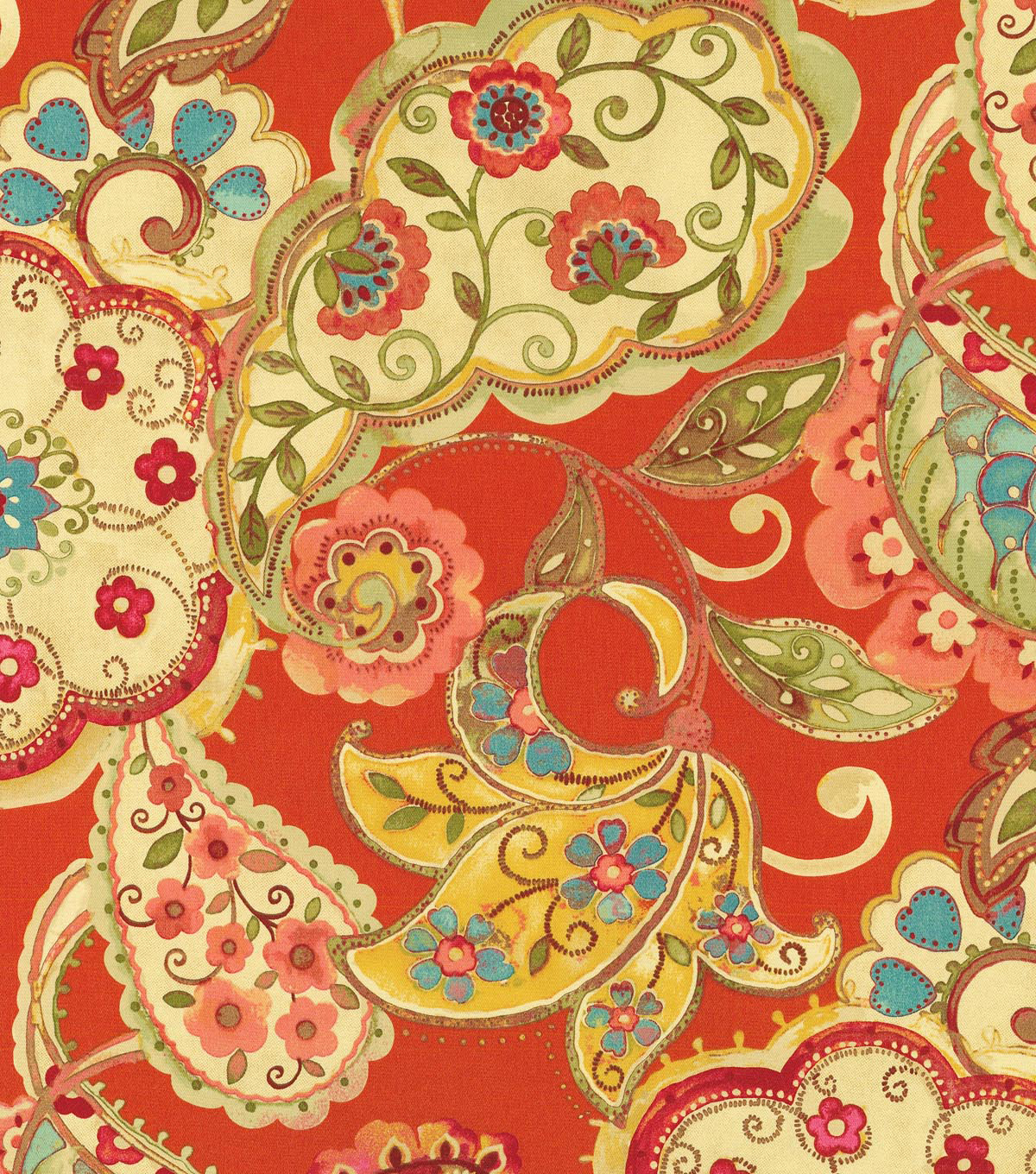 P/K Lifestyles Upholstery Fabric-Artist Colony Chili
