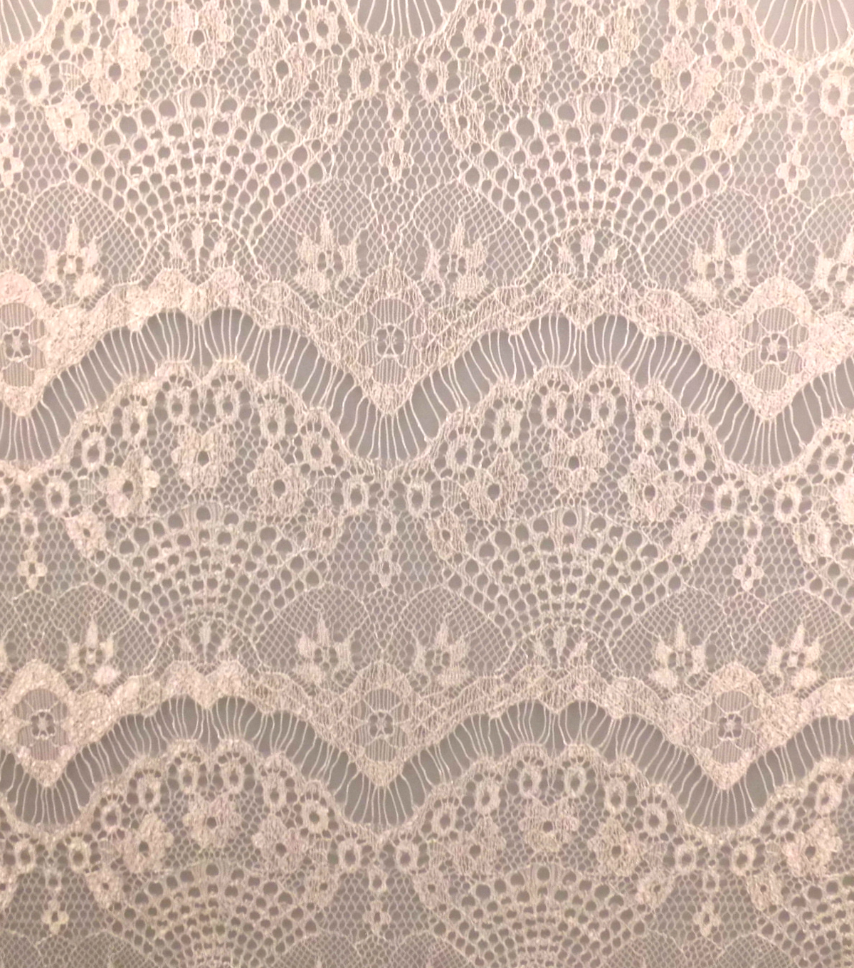 Casa Collection™ Eyelash Lace Fabric 57\u0027\u0027-Snow White