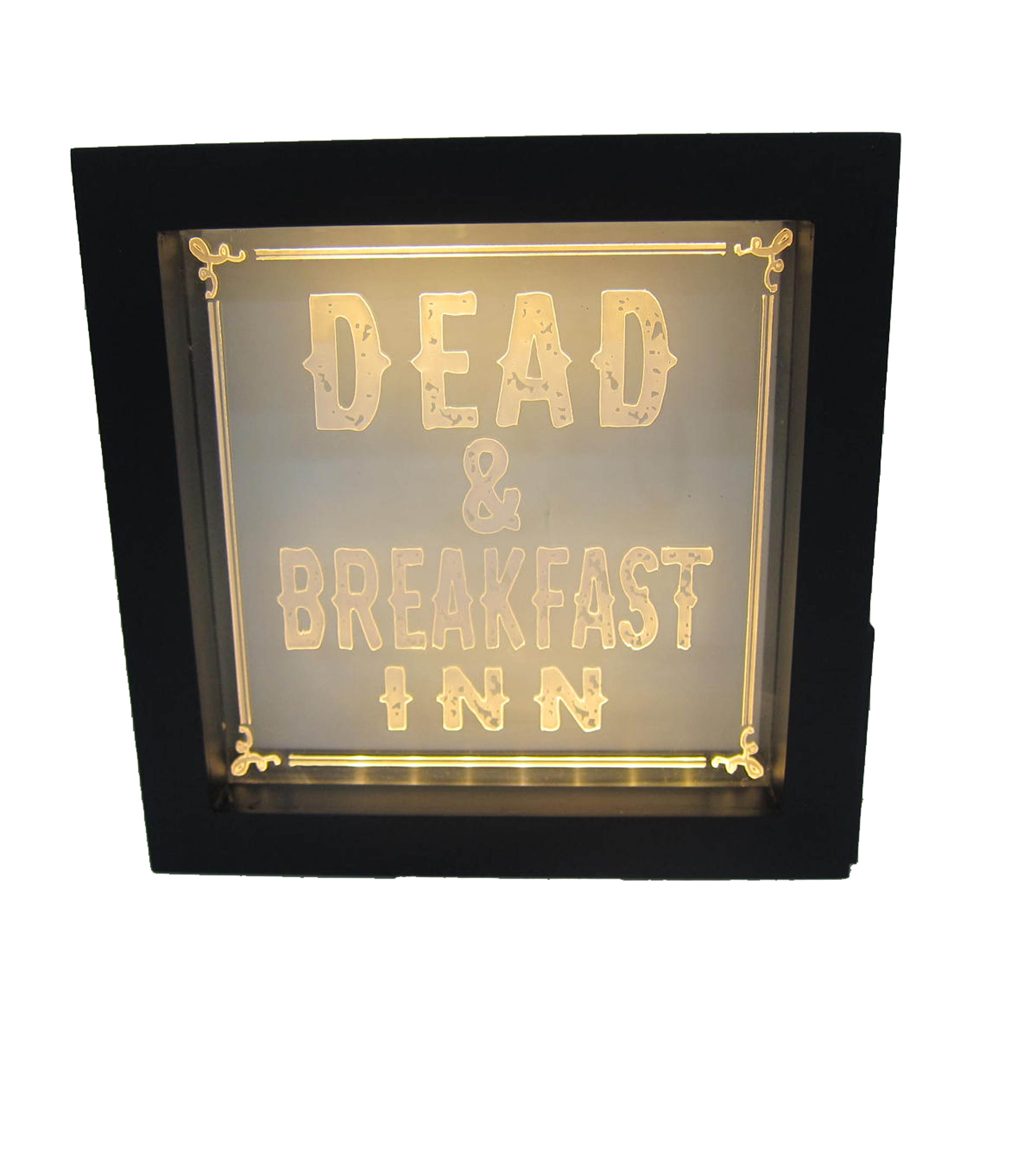 Maker\u0027s Halloween LED Plastic Word Block-Dead & Breakfast Inn