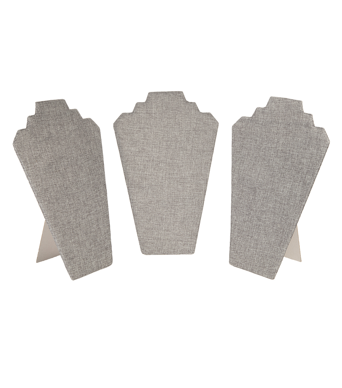 Large Flat Easel Back Grey Burlap 3pk