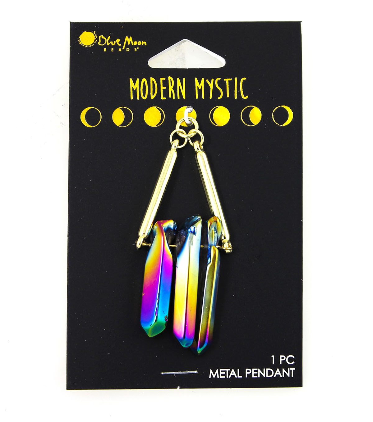 Blue Moon Beads® Modern Mystic Glass AB Dagger Chips Metal Pendant