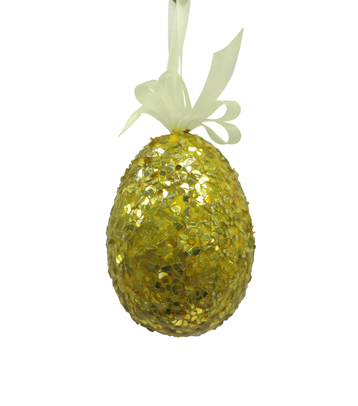 Easter Foiled Egg Ornament-Yellow
