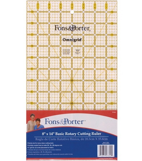 Fons&Porter 8\u0022 x 14\u0022 Rotary Cutting Ruler
