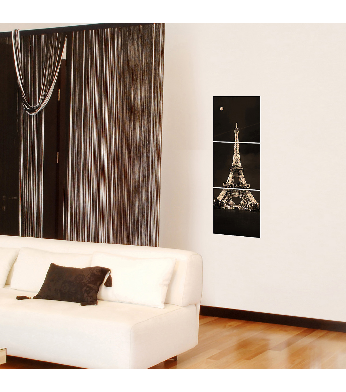 Home Decor Eiffel Tower Panoramic Wall Decal, 3 Piece Set