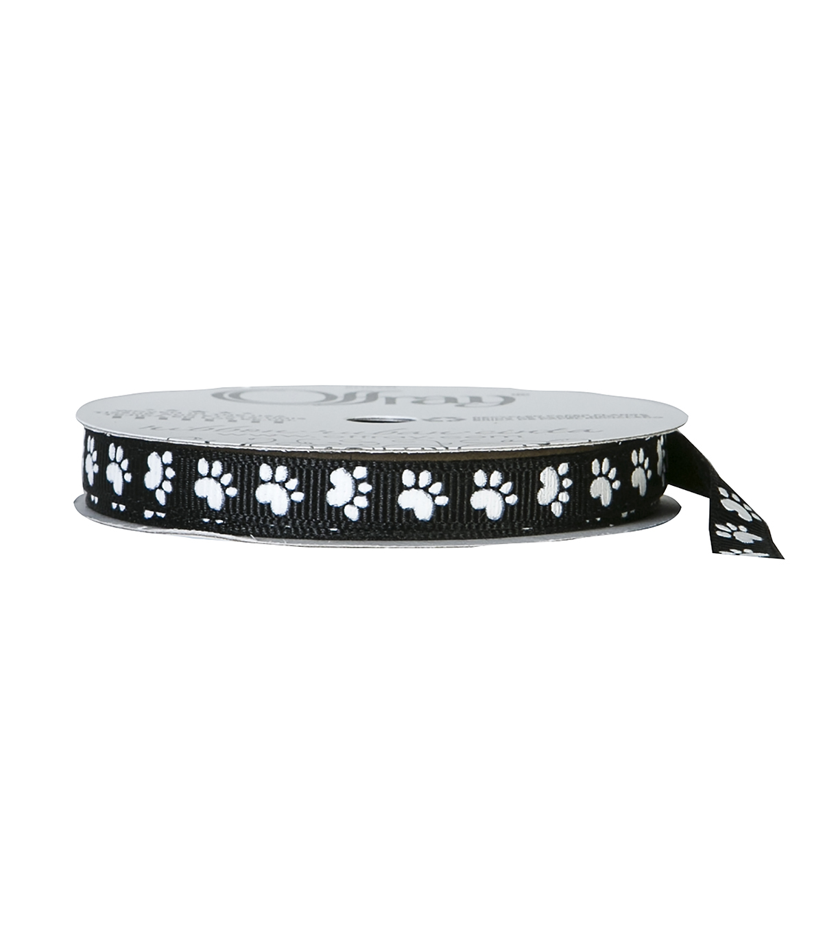 Offray 3/8\u0022x9\u0027 Paw Animal Print Grosgrain Ribbon