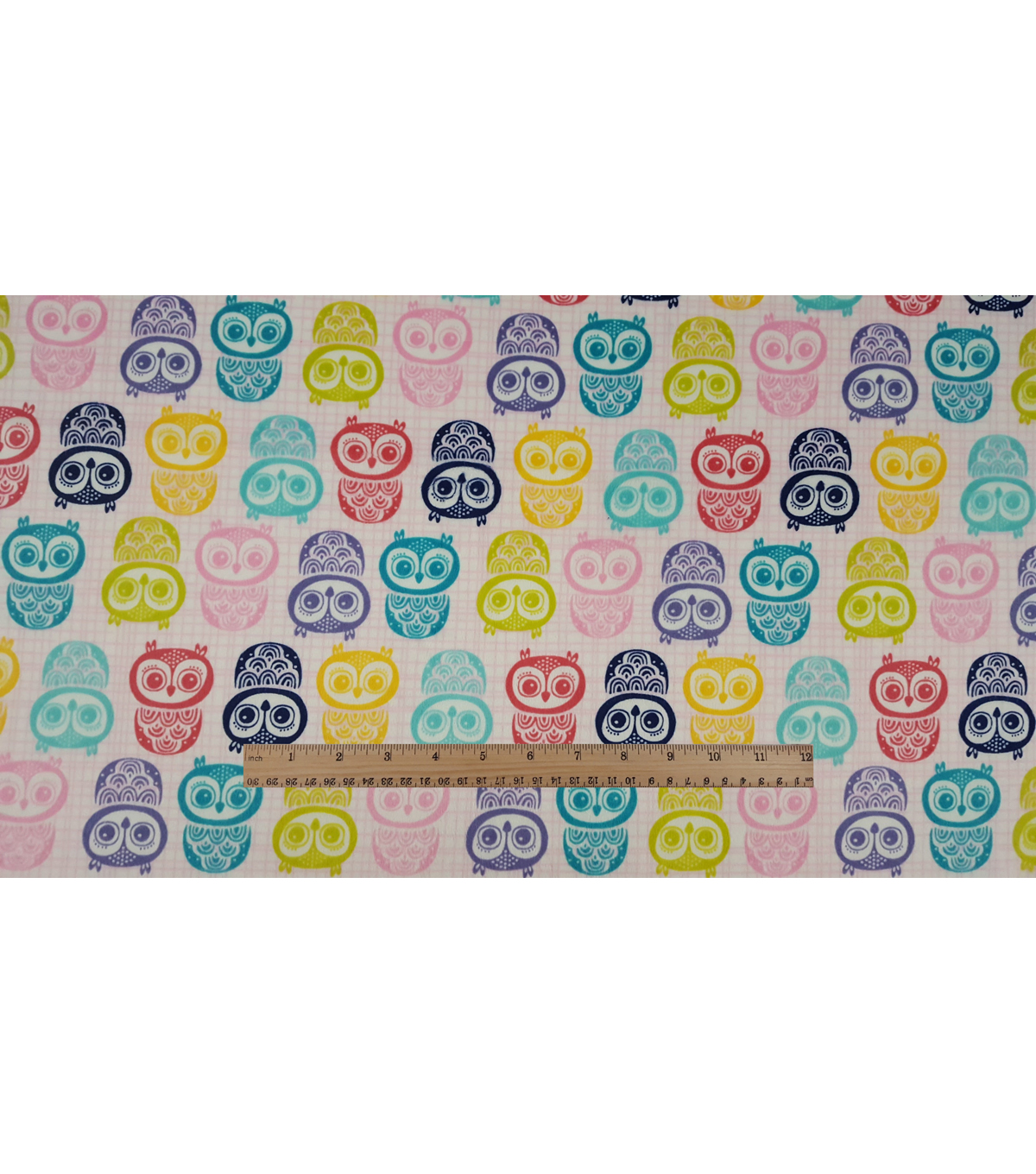 Soft N Comfy Fabric 57\u0022-Stamped Owls