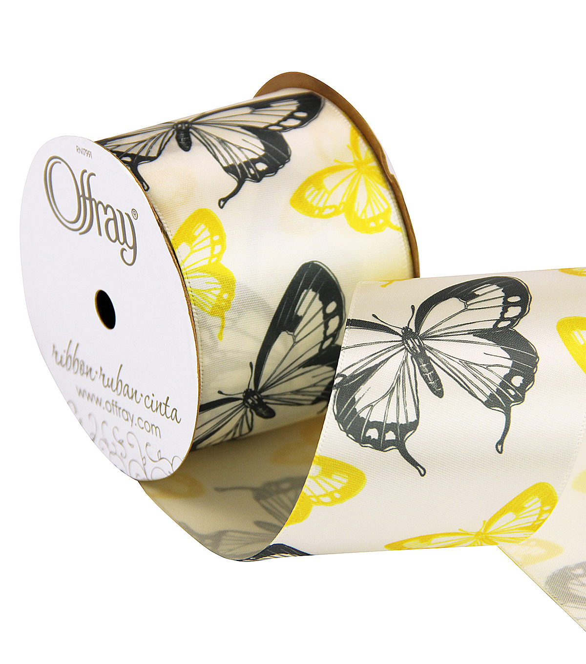 2 And One Qtr West Elm Butterfly Ribbon