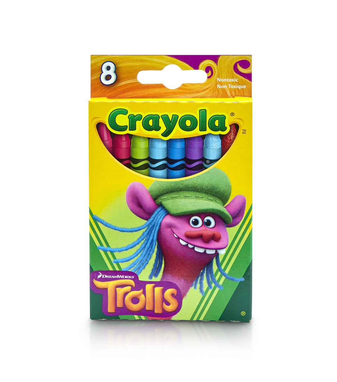 crayola dreamworks trolls 8ct crayons cooper