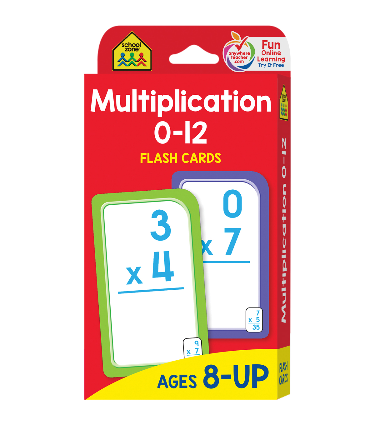 Flash Cards-Multiplication 0-12 55/Pkg