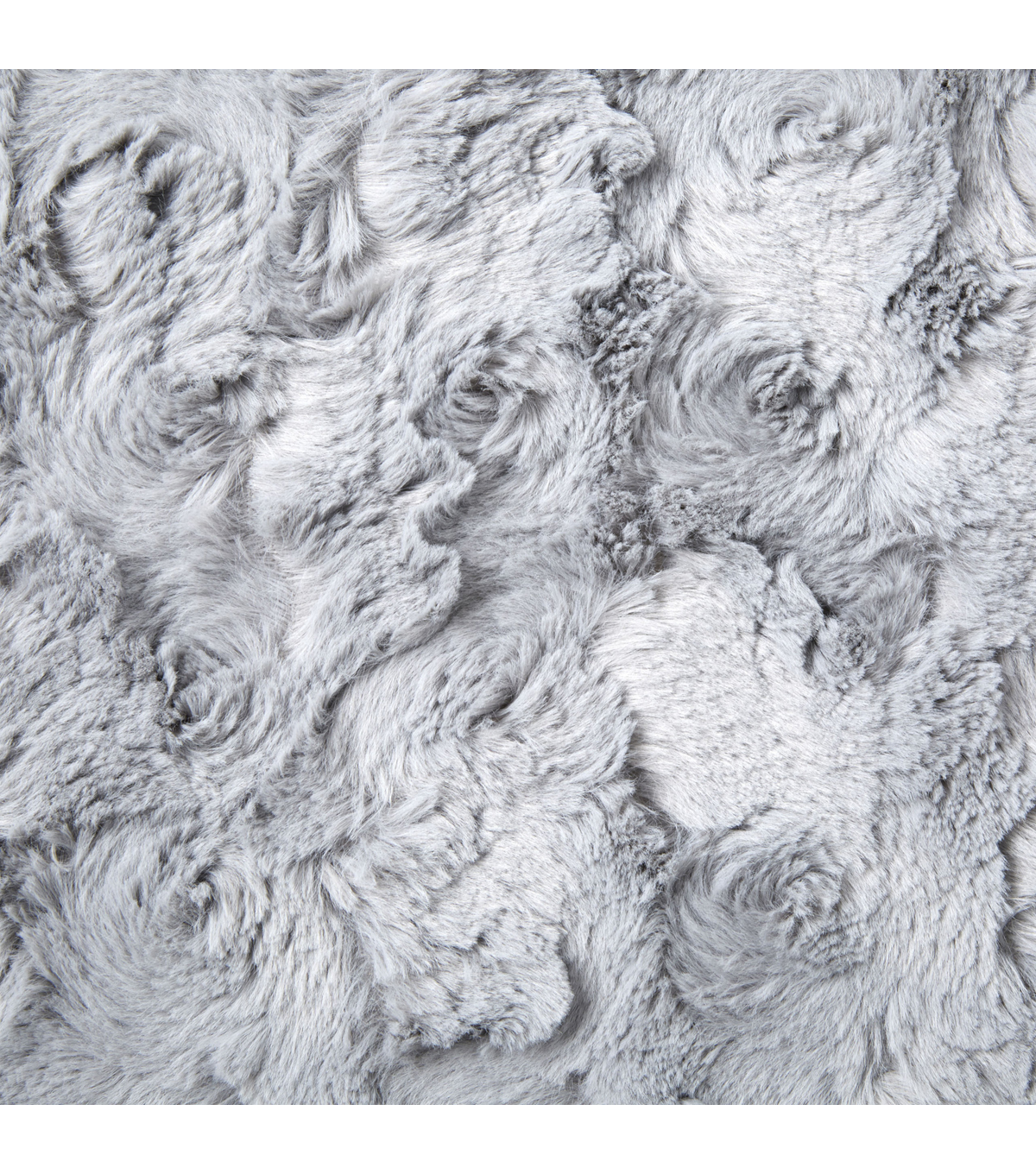 "Faux Fur Fabric 57""-Large Paloma Swirl"