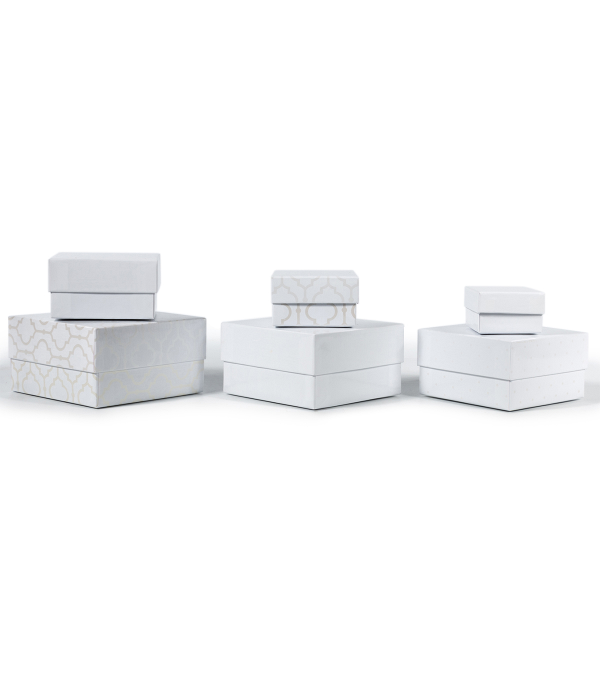 DCWV Designer Set of Nested Boxes White