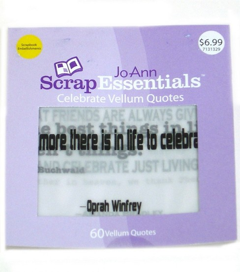 ScrapEssentials Vellum Quotes-Celebrate