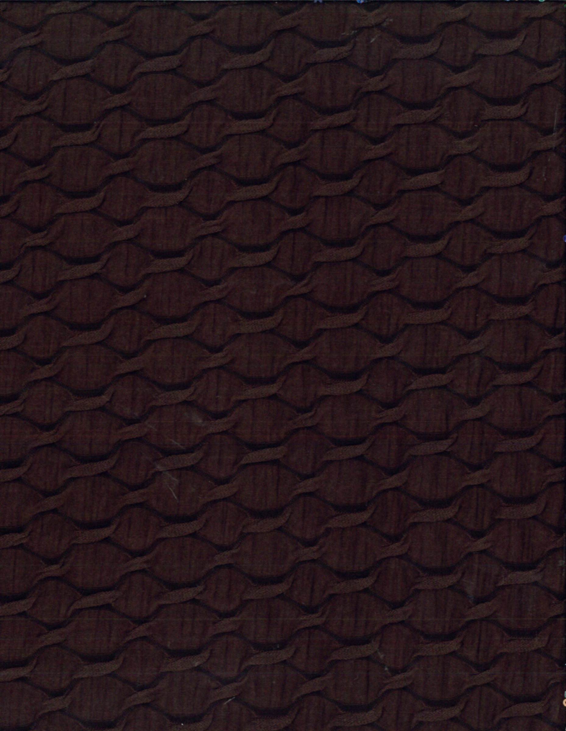 Sew Classics Cotton Fabric- Textured Lattice Knit Chocolate Poly Ray