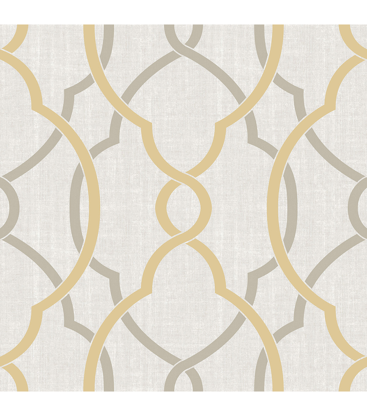 Wallpops Nuwallpaper Peel & Stick Wallpaper-Taupe & Yellow Sausalito