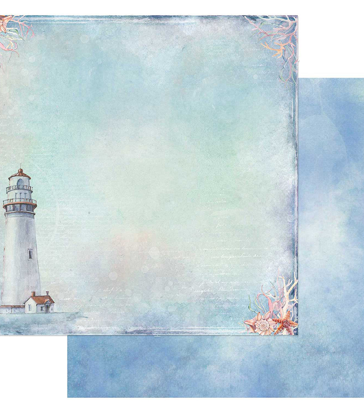 Sand & Sea Double-Sided Cardstock 12\u0022X12\u0022-The Lookout
