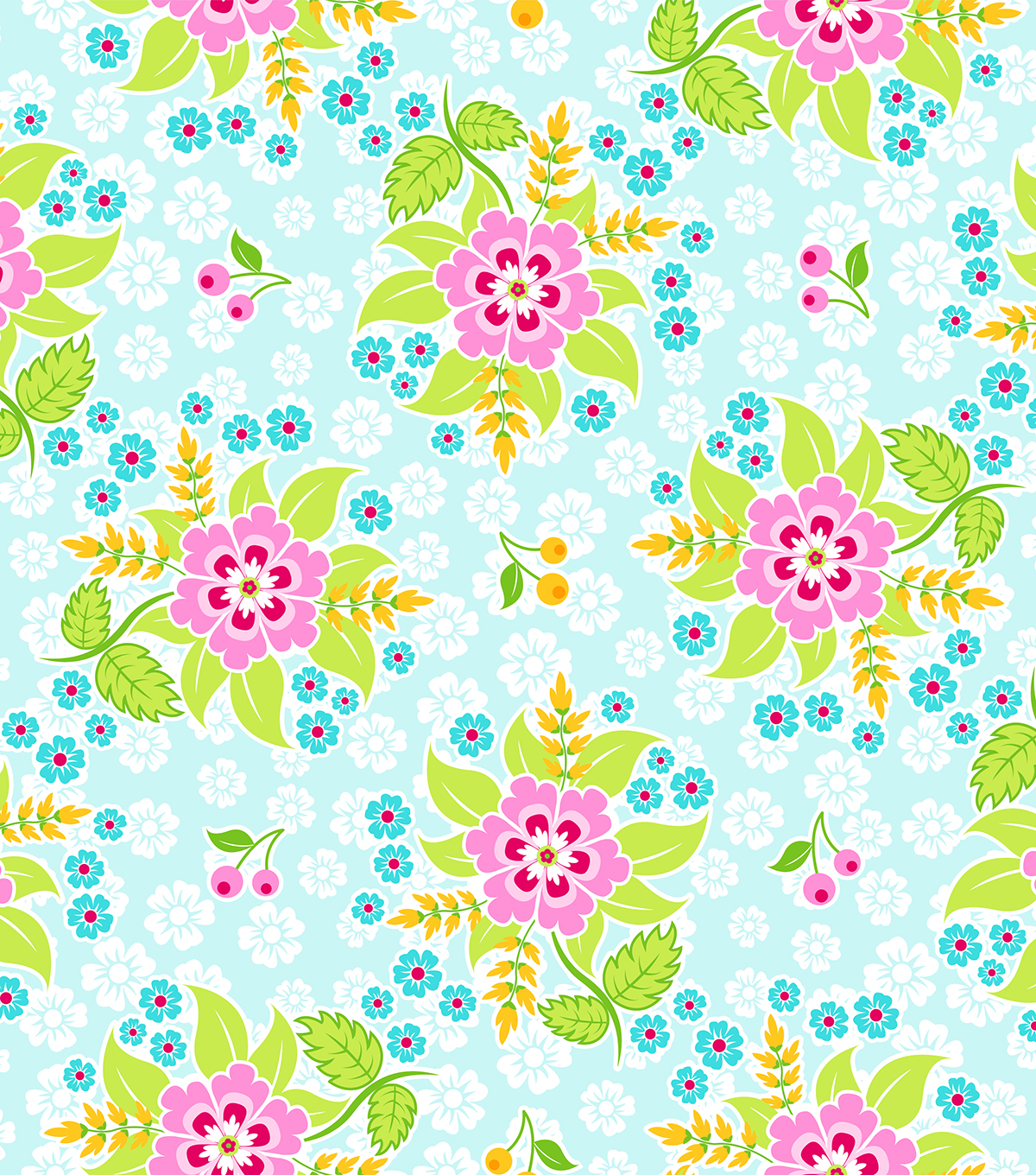 Modkid Studio by Patty Young Cotton Fabric-Sarah'S Garden
