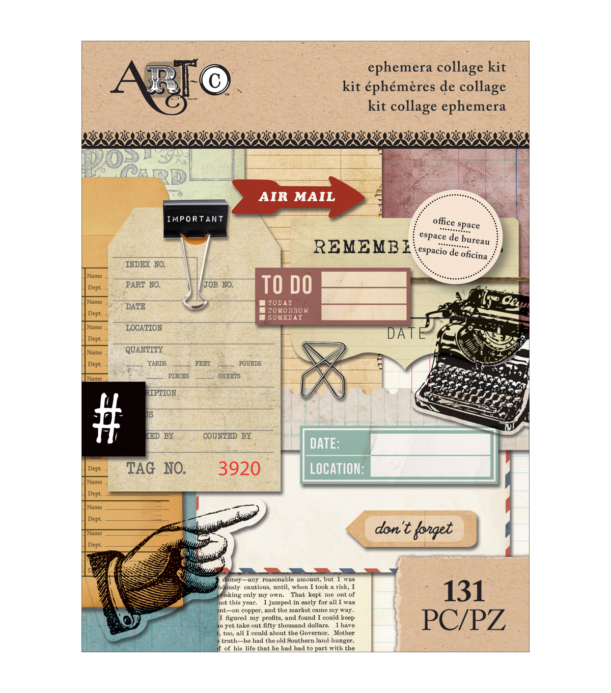 Art-C Ephemera Collage Pack-Office Space