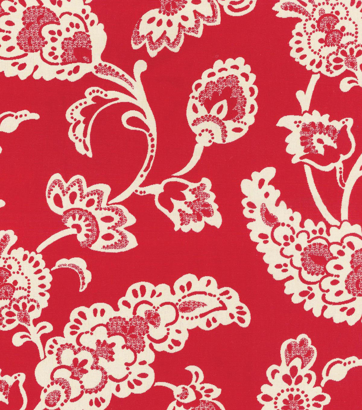 "Home Decor 8""x8"" Swatch Fabric-Williamsburg Pelham Pomegranate Jewel"