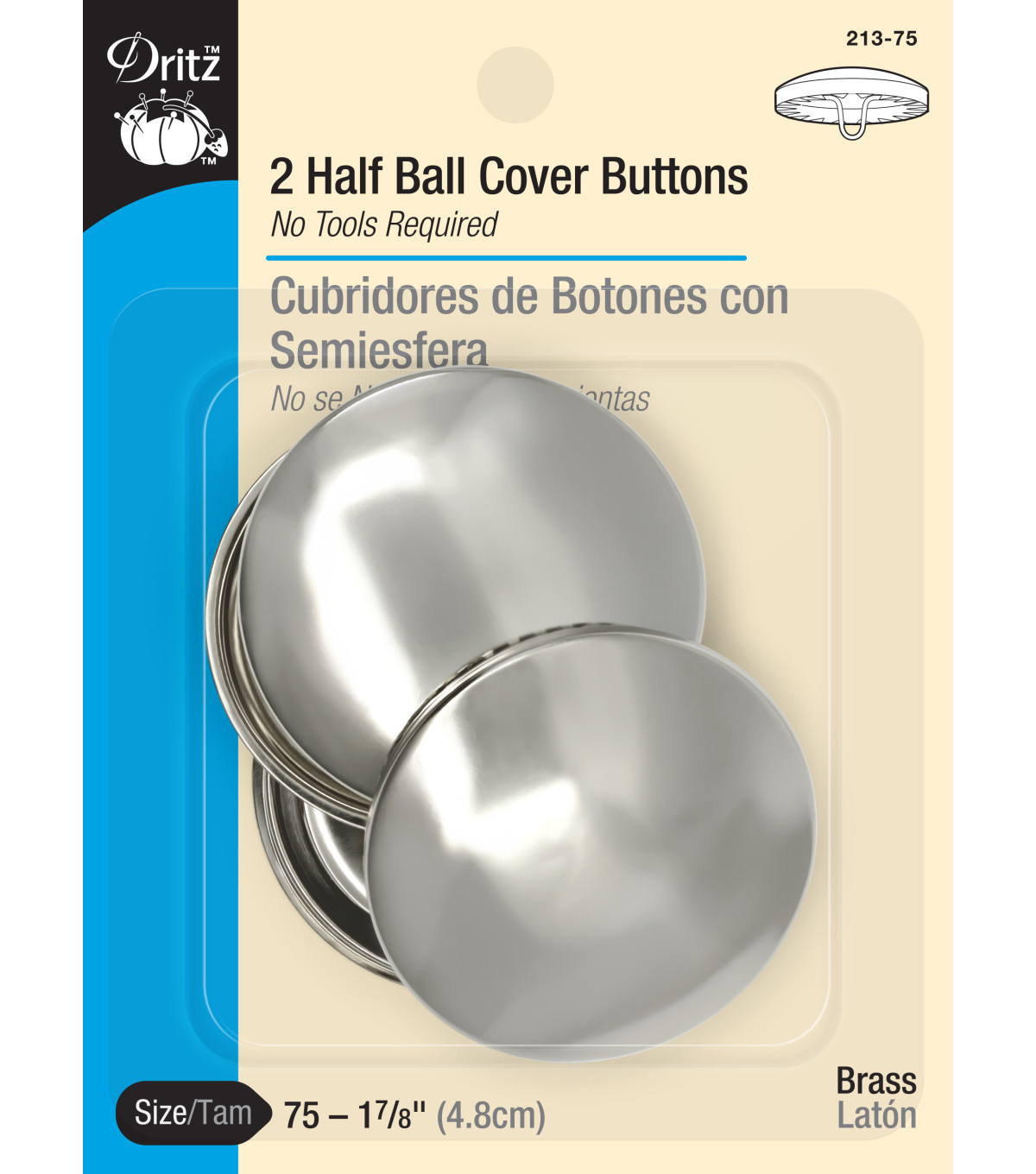 Dritz 1 7/8\u0022 Half Ball Cover Buttons