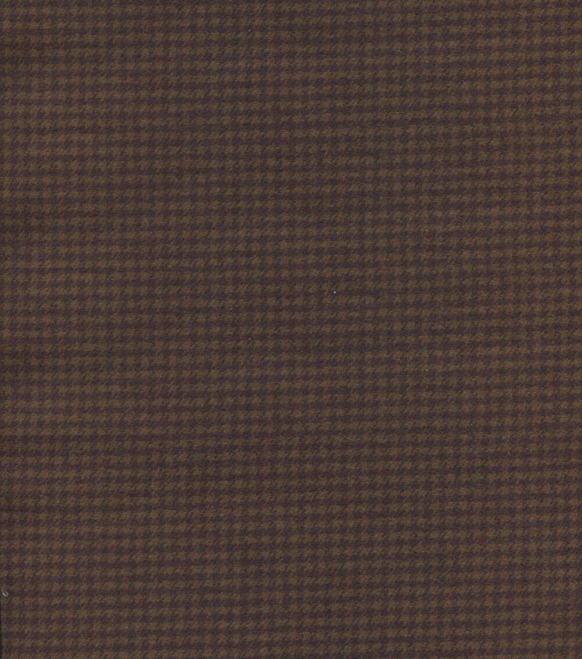 Plaiditudes Brushed Cotton Fabric 44\u0022-Brown Houndstooth