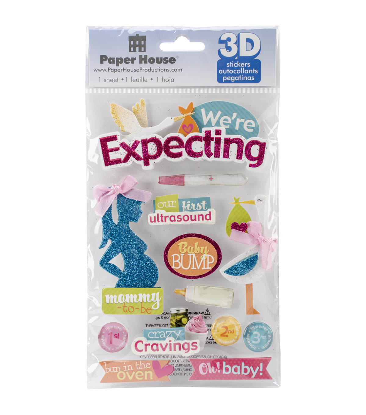 Paper House 3D Stickers-We\u0027re Expecting