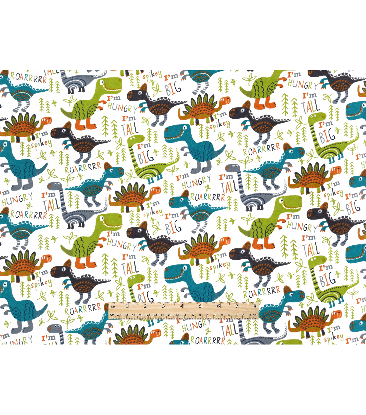 Snuggle Flannel Fabric 42\u0022-Roarrrrr