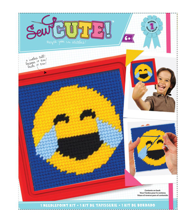 Sew Cute! Needlepoint Kit-Emoji Happy Tears