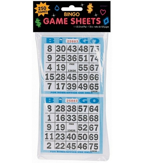 Bingo Game Sheets 125PK-