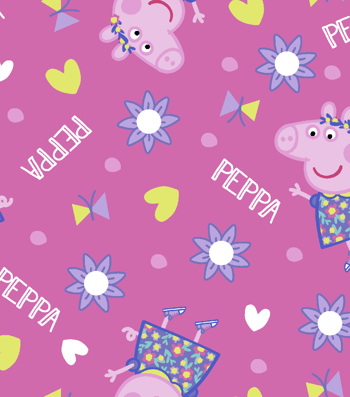 Peppa Pig Cotton Fabric 43\u0027\u0027-Toss