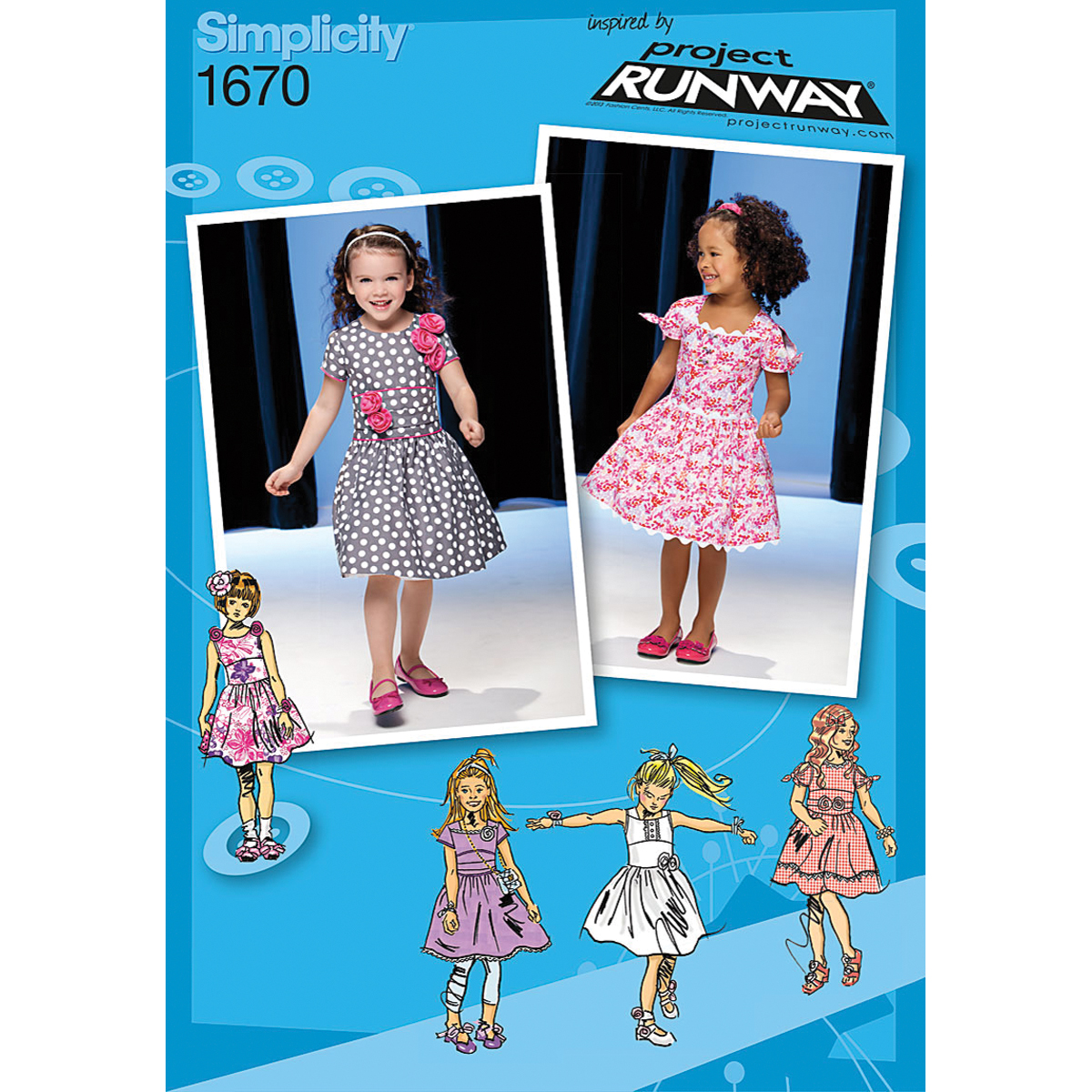 Simplicity Pattern 1670AA 1/2-1-2-3 -Simplicity Toddlers