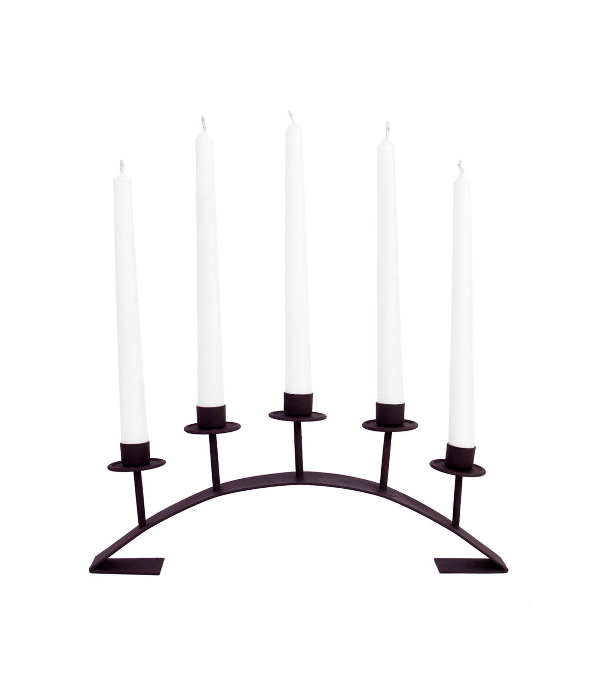 Taper Candle With Metal Holder 15''-Black