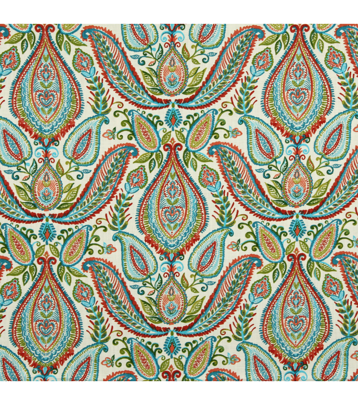 Home Decor 8\u0022x8\u0022 Fabric Swatch-Ombre Paisley / Poppy