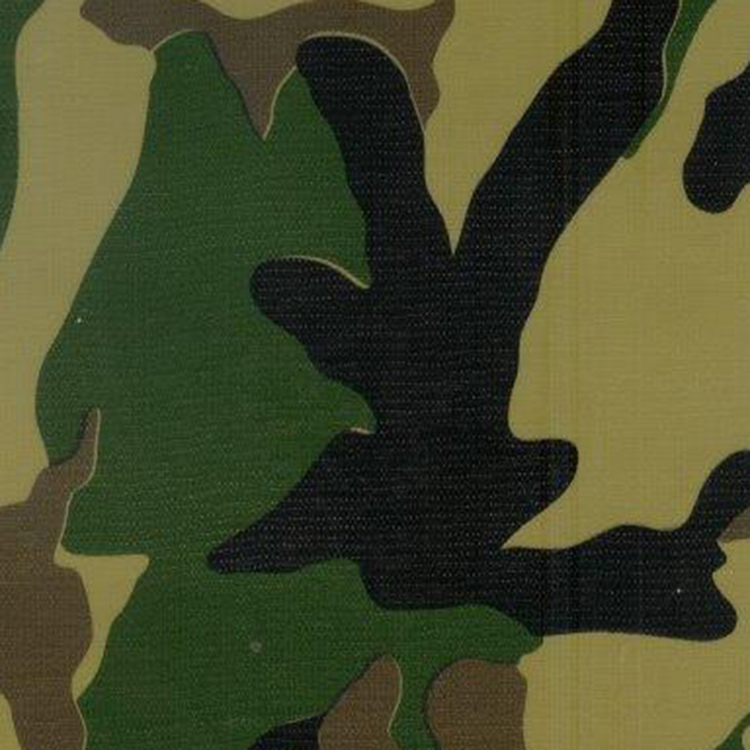 Utility Fabric- Camouflage Oilcloth