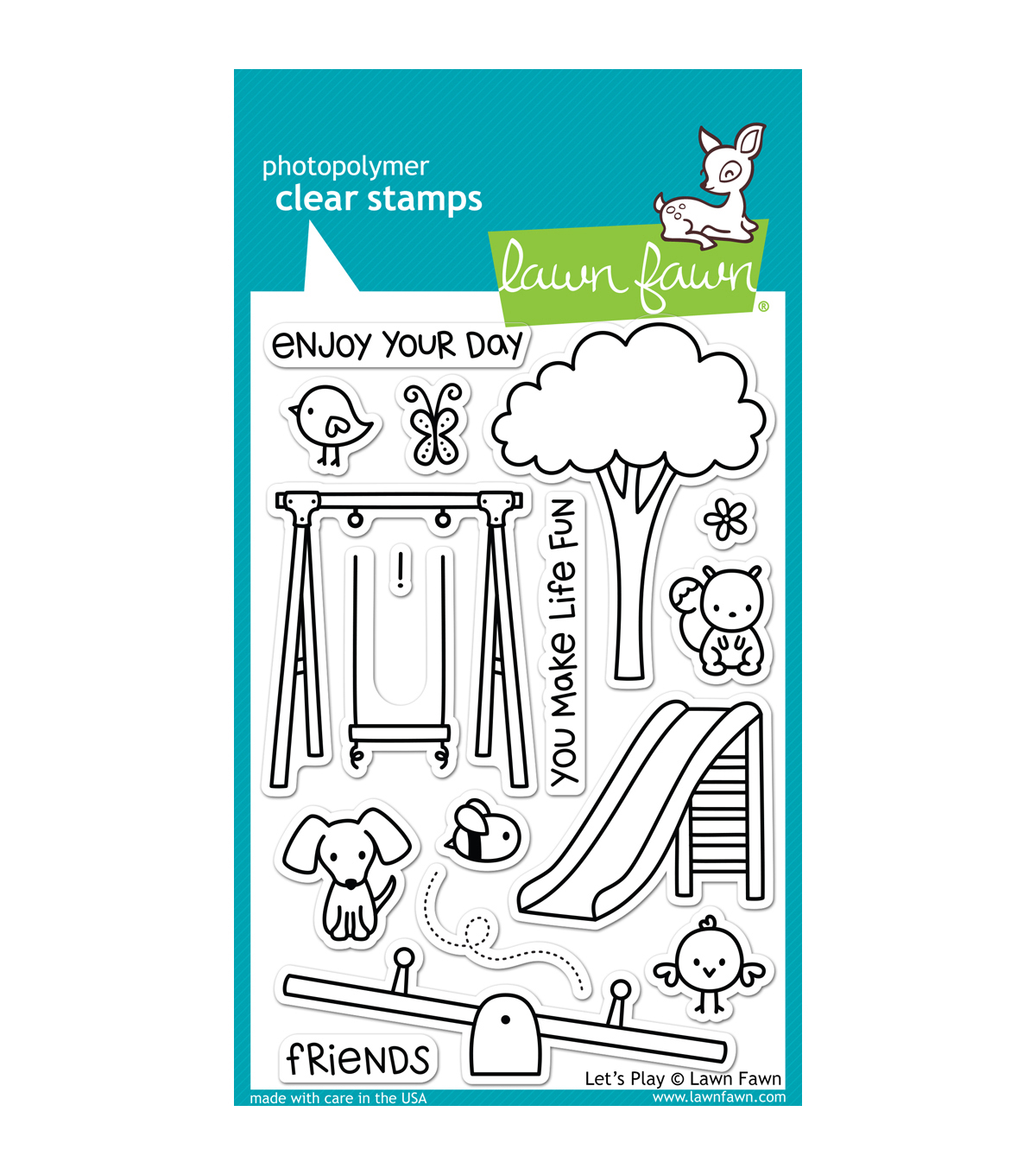 Lawn Fawn Clear Stamps 4\u0022X6\u0022-Lets Play