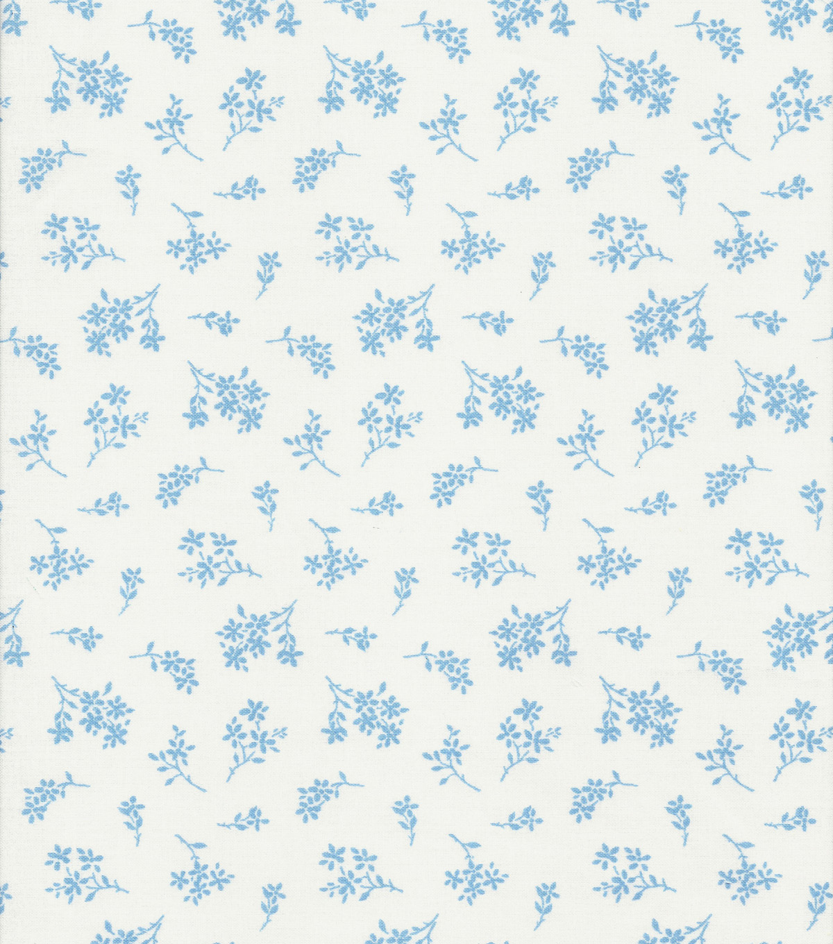 Quilter\u0027s Showcase™ Cotton Fabric 44\u0022-Alaskan Blue Tossed Ditsy Floral