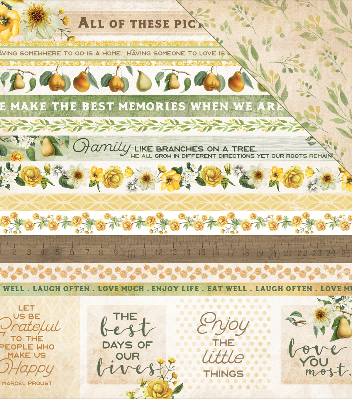 "Golden Grove Double-Sided Cardstock 12""X12""-Grateful"