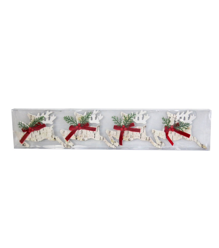 Maker\u0027s Holiday 4pk Deer Ornaments