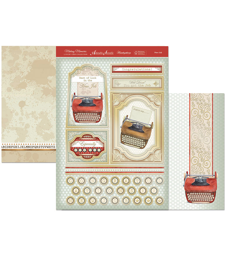 Hunkydory Crafts Making Memories Luxury Topper Set A4-New Job