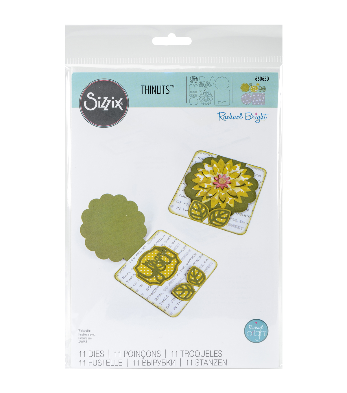Sizzix® Thinlits Dies-Fall Flowers Card