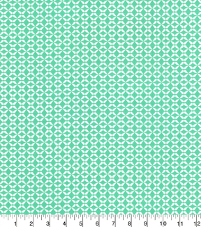 Quilters Showcase Cotton Fabric-Geo Aqua