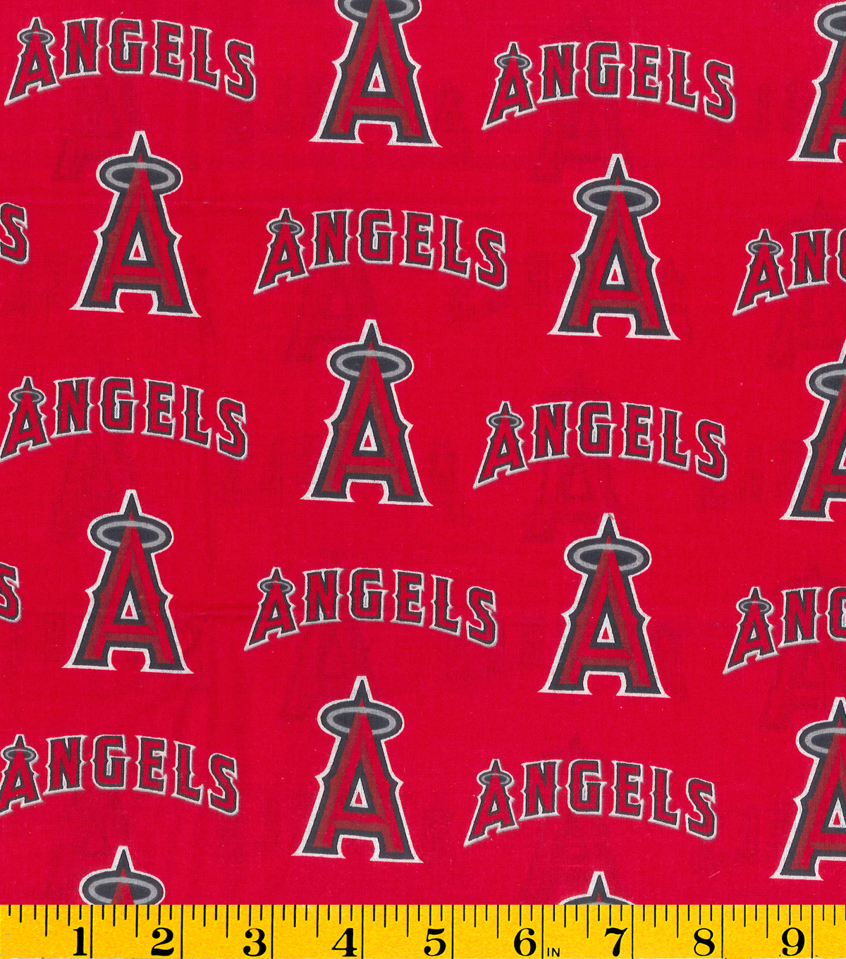 Los Angeles Angels Cotton Fabric 58\u0022-Tossed Print