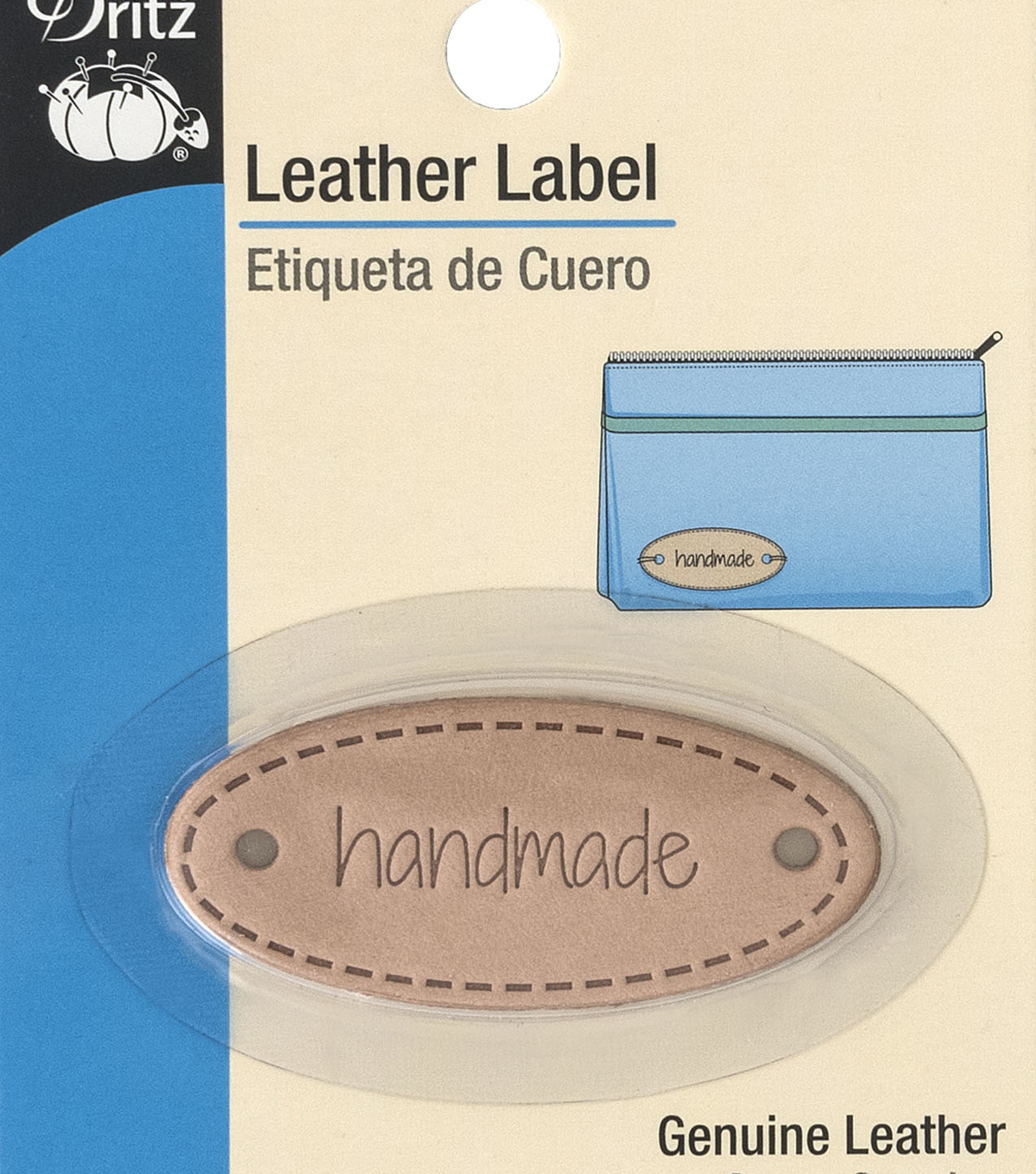 Dritz Leather Oval Label-handmade